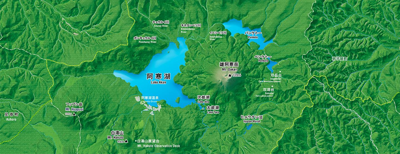 阿寒湖周辺マップ