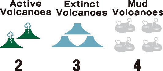 Akan Caldera's Volcanoes