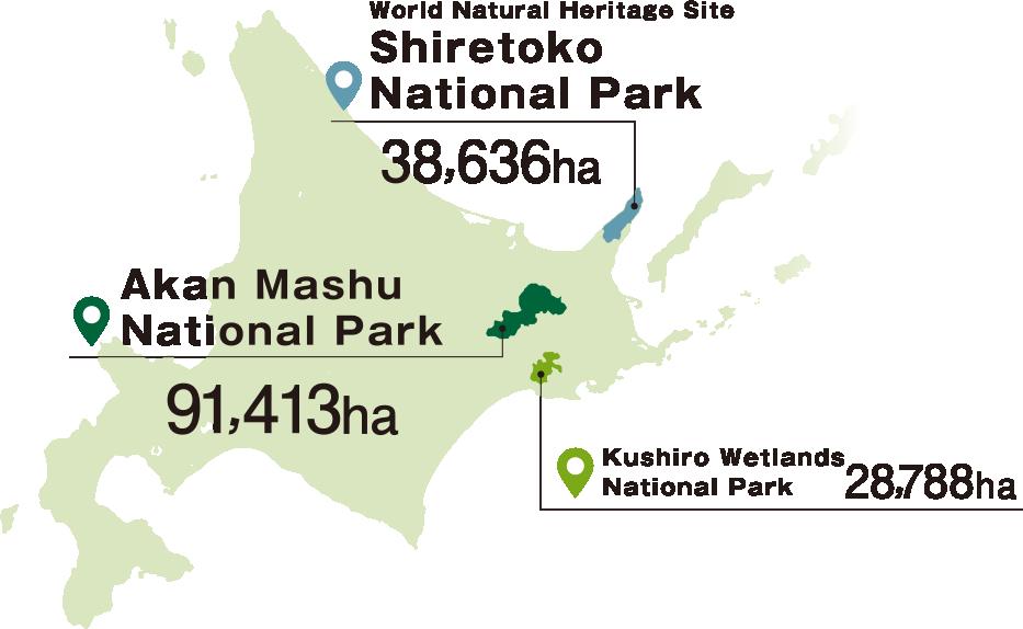 Eastern Hokkaido's 3 National Parks